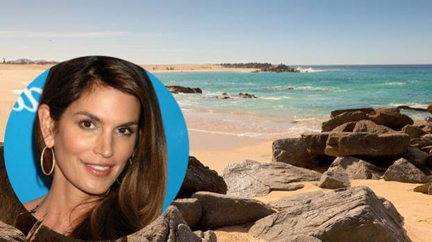 Cindy Crawford in Los Cabos, Mexico