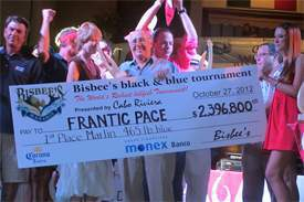 Team Frantic Pace receive their big-time check