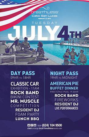 Celebrate 4th of July in Los Cabos